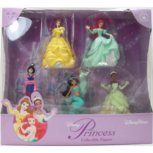 Your WDW Store Disney Figurine Set Princesses NEW Jasmine Tiana Ariel Belle Mulan