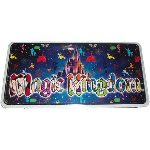 Disney License Plate Magic Kingdom Character Icons Logo