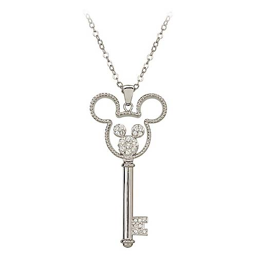 d37d7b53893ba Disney Arribas Necklace - Swarovski Crystal Key Mickey Mouse