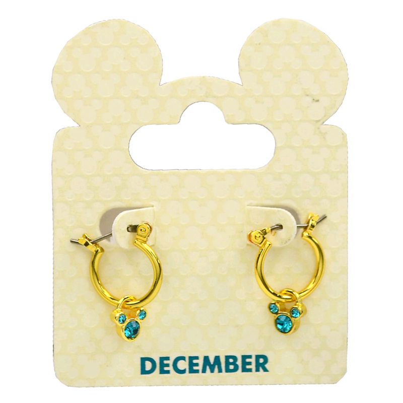 65c22ac1e9670 Disney Earrings - Hoops and Mickey Icons - Birthstones