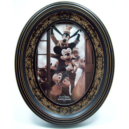 Disney Picture Frame Oval Nostalgic Mickey Wood Frame 5 X 7