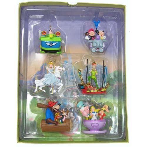 Disney Christmas Ornament Set Storybook Four Parks One