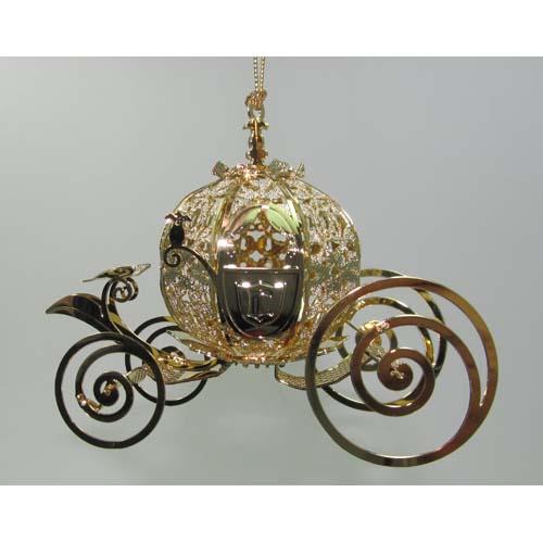 Add to My Lists. Disney Holiday Ornament ... - Disney Holiday Ornament - Cinderella Carriage - Golden - Baldwin