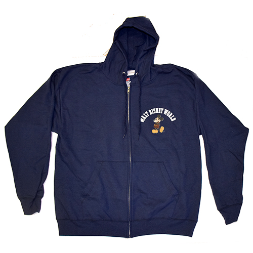 Disney Adult Sweatshirt Jacket - Navy - Mickey 1971