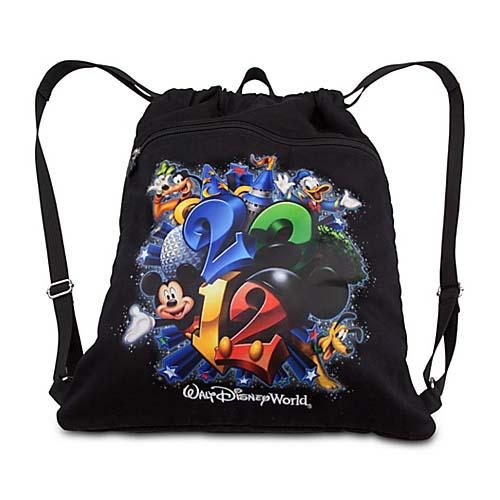 Disney Backpack Bag Dated 2012 Walt Disney World Cinch Bag