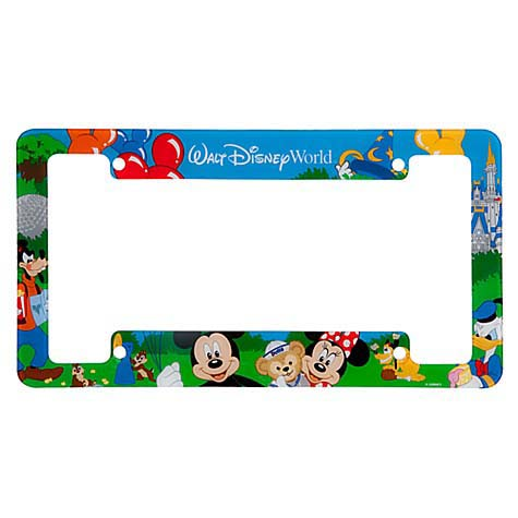 Disney License Plate Frame Storybook Mickey Minnie And Duffy