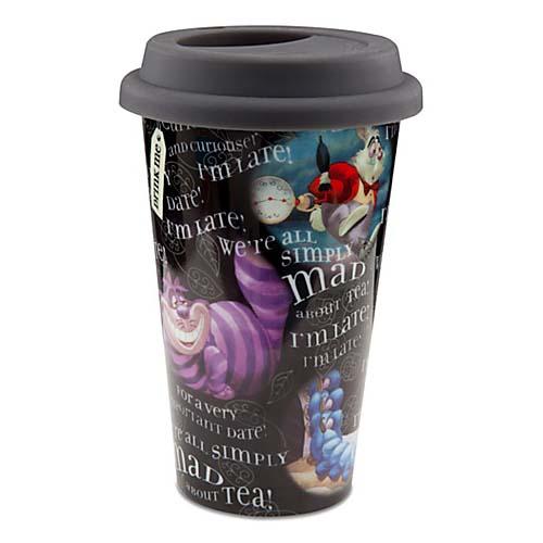 Disney Ceramic Travel Mug Alice In Wonderland