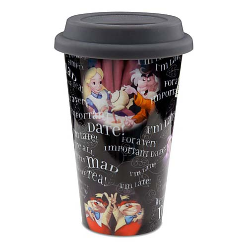 Disney Ceramic Travel Mug - Alice in Wonderland