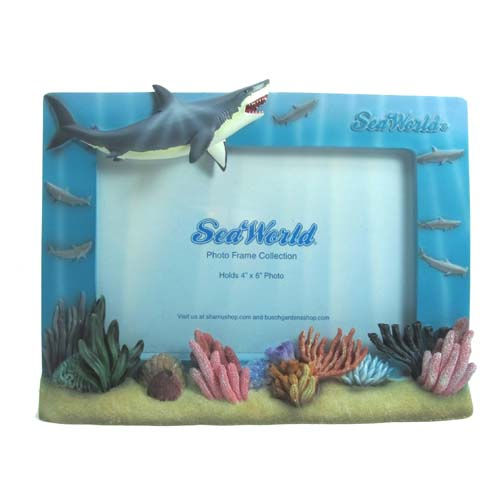 Your WDW Store - Sea World Picture Frame - Shark and Coral - 6 x 4