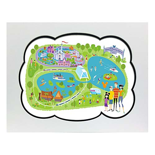 Disney Artist Print   Shag   40th Anniversary Walt Disney World Map