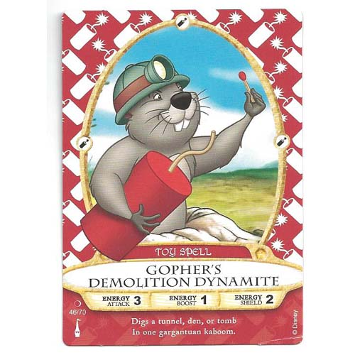 Disney Sorcerers of Magic Kingdom Cards - Gopher