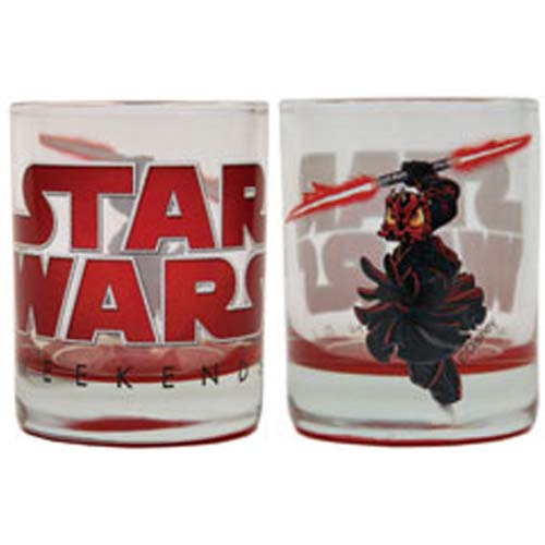 Disney Rocks Glass - Star Wars Weekends 2012 Darth Maul Donald Duck