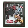 Disney Star Wars Weekends 2012 Magnet - Jedi Mickey Darth Maul Donald
