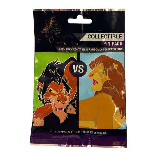 Disney Mystery Pin Set - Good vs Evil - Choice