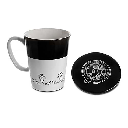 Disney Coffee Cup with Lid - Gourmet Mickey Mouse Icon - Black