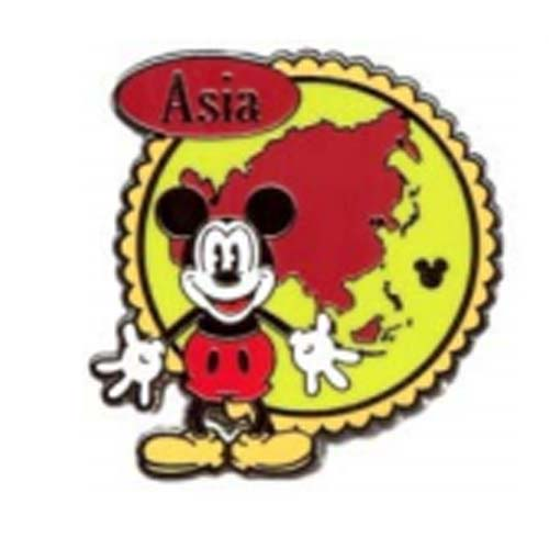 Disney Hidden Mickey Pin - 2012 Series - Continent Stamps - Asia