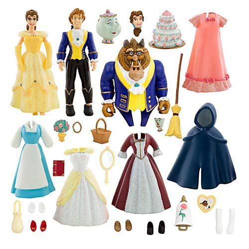Disney Figurine Set Deluxe Princess Belle Fashion Play Set