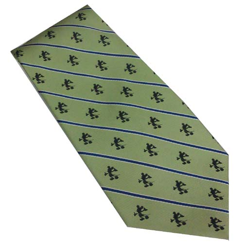 Disney Silk Tie - Mickey Mouse Silhouettes - Green with Stripes