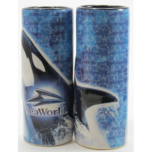 SeaWorld - Tall Shooter Shot Glass - Orca Whale Banner