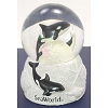 SeaWorld Snow Globe - Black and White Orca Glitter - Large