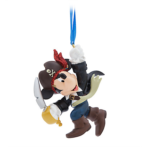 Disney Christmas Figurine Ornament - Pirate Mickey Mouse