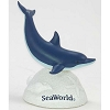 SeaWorld Resin Figure - Blue and White Dolphin