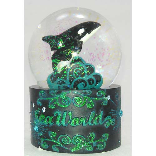 SeaWorld Snow Globe - Moonlit Orca - Shamu Killer Whale