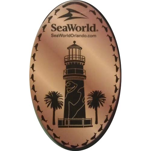 SeaWorld Pressed Penny - Sea World Lighthouse Logo