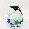 SeaWorld Snow Globe - Bright Orca Whale - Small