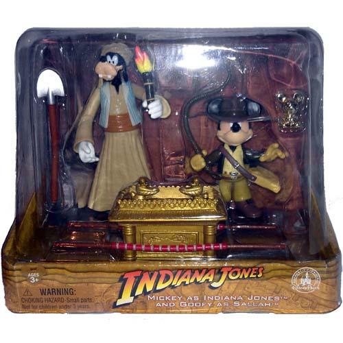 Disney Figurine Set Indiana Jones And Sallah Mickey Mouse And Goofy