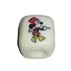 Disney Bead for Bracelet - Minnie Mouse Standing - White Bead