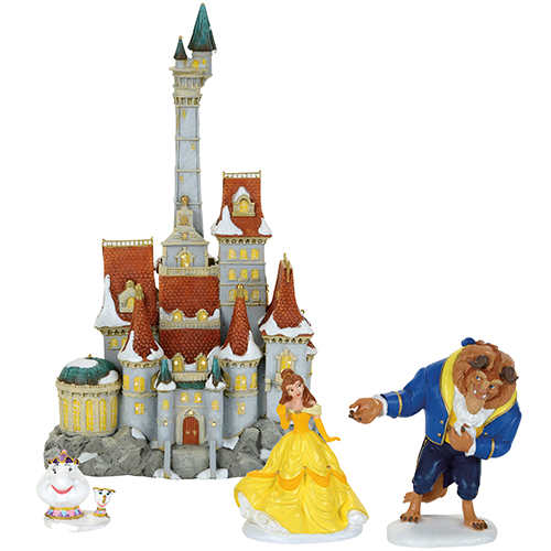 Disney Princess Village Beauty And The Beast Holiday Figurine Set