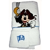 Disney Bath Towel Set - Captain Jack Mickey - Towel and Wash Cloth