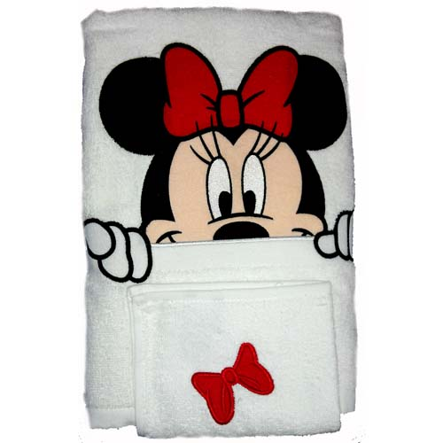 Your Wdw Store Disney Bath Towel Set Minnie Mouse Towel And Wash Cloth