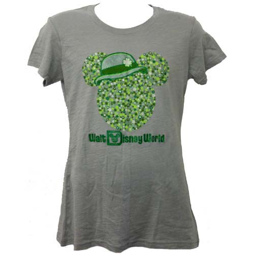 disney ladies shirt st patrick s day mickey ears with irish derby
