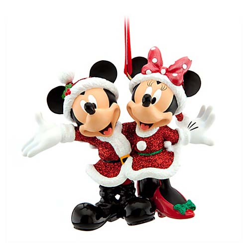 disney christmas ornament santa mickey and minnie mouse