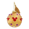 Disney Christmas Ornament - Trendy Jeweled Mickey - Gold