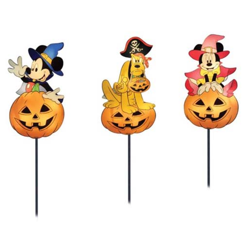 disney halloween decoration pathway markers mickey minnie pluto