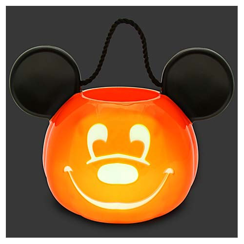 Disney Halloween Trick Or Treat Pail   Mickey Mouse Light Up Pumpkin