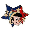 Disney Hidden Mickey Pin - 2012 Star Characters - Pinocchio