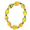 Disney EPCOT Recycled Paper Bracelet - Yellow - Small Fat Beads