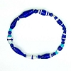 Disney EPCOT Recycled Paper Bracelet - Blue - Long Thin Beads