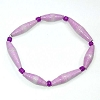 Disney EPCOT Recycled Paper Bracelet - Purple - Long Thin Beads