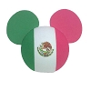 Disney Antenna Topper - Mickey Mouse Ears Mexican Mexico Flag Ball