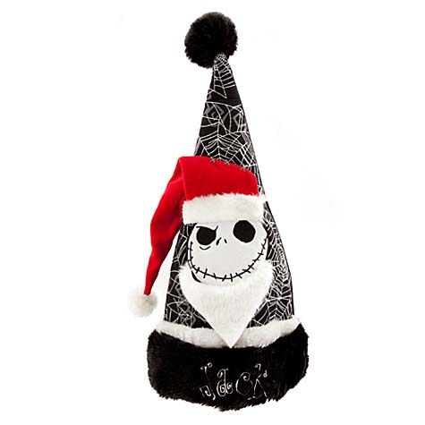 Jack Skellington Christmas.Disney Santa Christmas Holiday Hat Jack Skellington Glitter Web