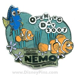 Disney Finding Nemo The Musical Pin - Opening Day