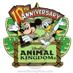 Disney Animal Kingdom Pin - 10th Anniversary