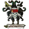 Disney Pirates Pin - Skull and Snakes