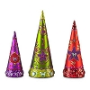 Disney Holiday Decor - Glitter Glass Mickey Mouse Christmas Trees