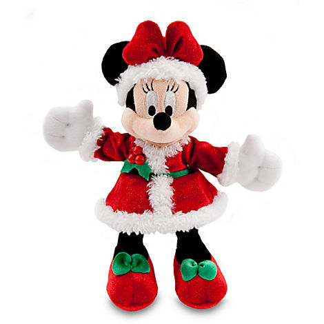 Disney Christmas Plush - Happy Holidays 2013 - Santa Minnie